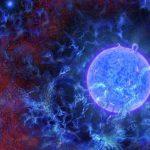 Une vue d'artiste montrant les premières étoiles bleues massives dans l'univers entouré par le fond diffus cosmologique - N.R.Fuller, National Science Foundation