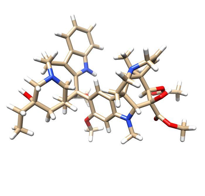 La structure de la vinblastine - Crédit : John Innes Centre
