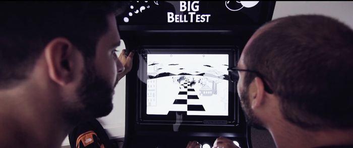 Le jeu en ligne qui a servi au Big Bell Test