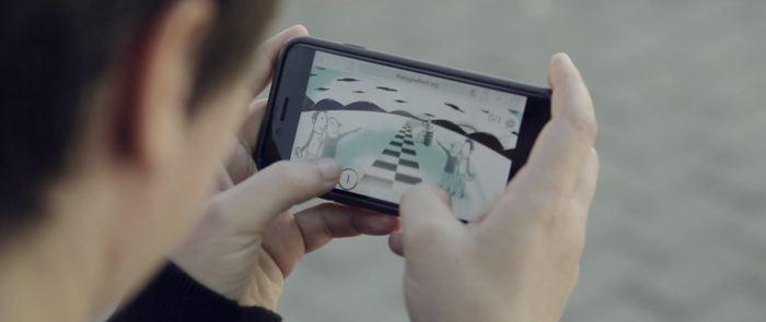 Le jeu en ligne utilisé pour le Big Bell Test