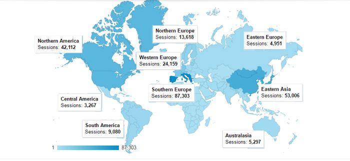 Les pays où des personnes ont participé au Big Bell Test