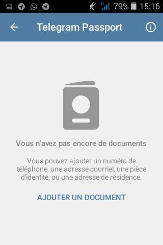 Ajouter vos documents dans votre Passeport de Telegram