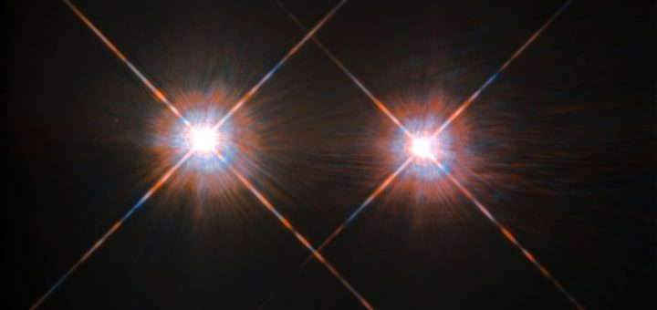 Une image d'Alpha Centauri prise par le téléscope Hubble - Crédit : ESA/NASA