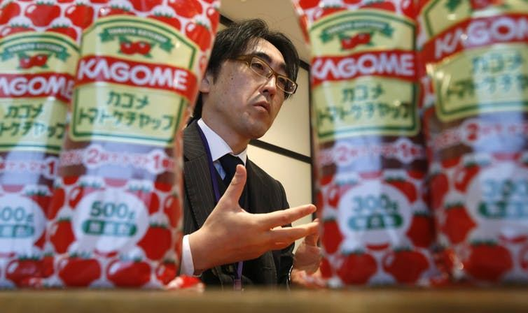 Fumitaka Ono est l'une des marques les plus populaires de ketchup au Japon - Crédit : Reuters/Yuya Shino