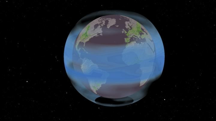 L'une des propositions pour la géoingénierie solaire consiste à injecter des aérosols de sulfate dans l'atmosphère, comme cela se produit après de grandes éruptions volcaniques. Le smog agit comme un parapluie, réduisant la lumière du soleil et baissant les températures de quelques pour cent pour contrer le réchauffement climatique - Crédit : Stephen McNally, Hulda Nelson, UC Berkeley