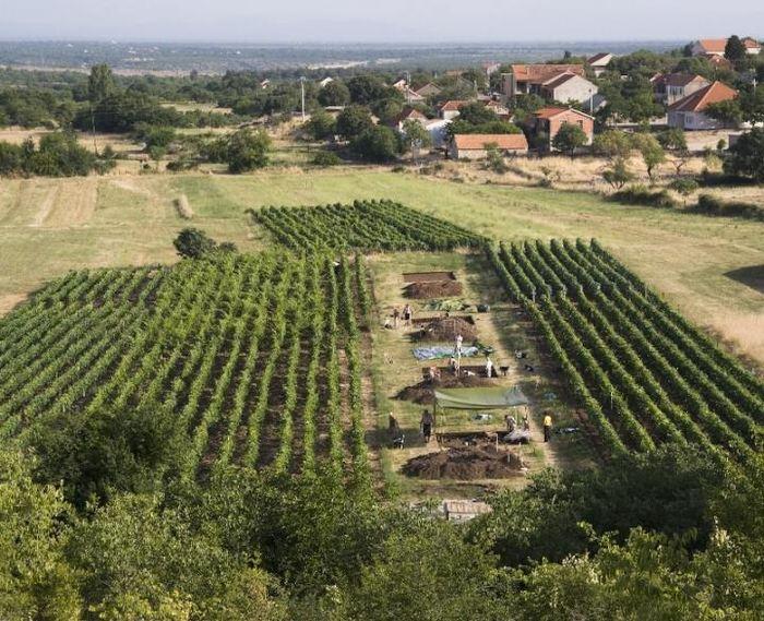 Le site archéologique de Pokrovnik lors de fouilles dans le village moderne de Dalmatie, en Croatie - Crédit : Andrew M.T. Moore