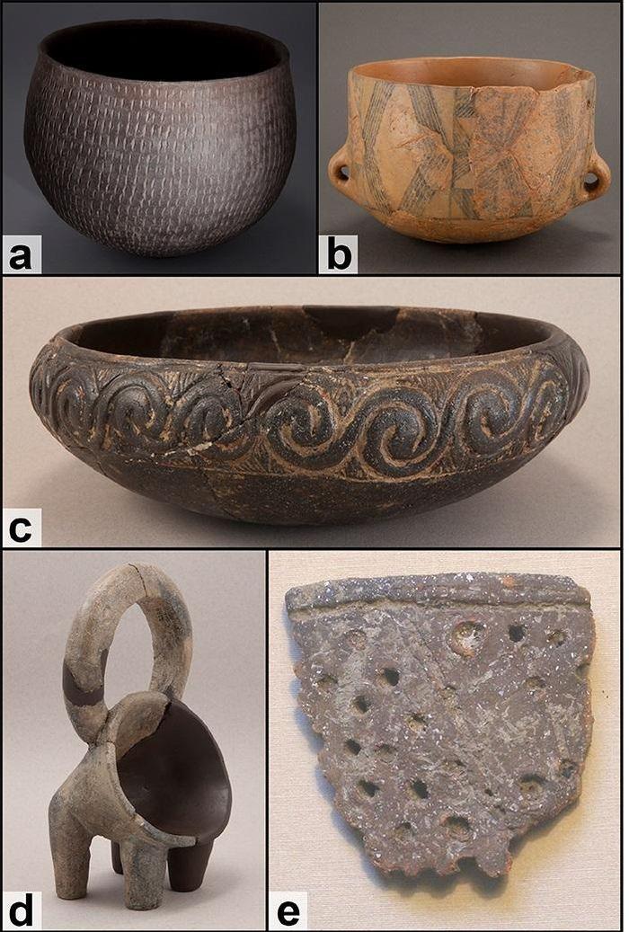 Exemples de types de poteries du néolithique dalmate - Crédit : McClure et al., 2018