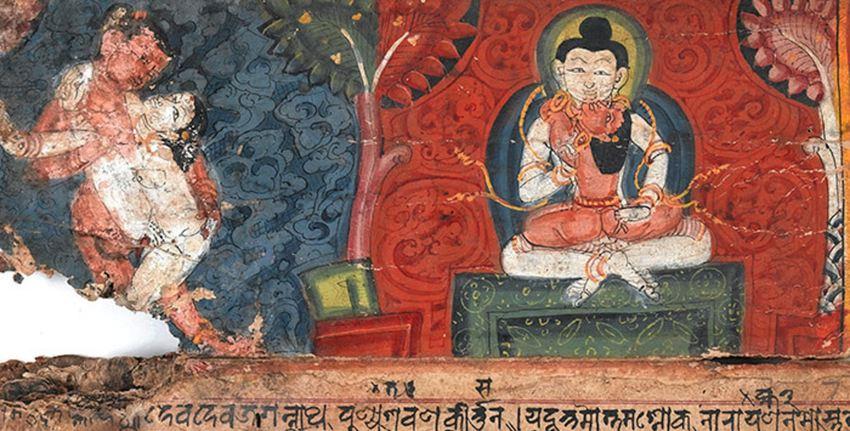 Détail d'un manuscrit népalais de Kama Sutra - Crédit : Wellcome Collection