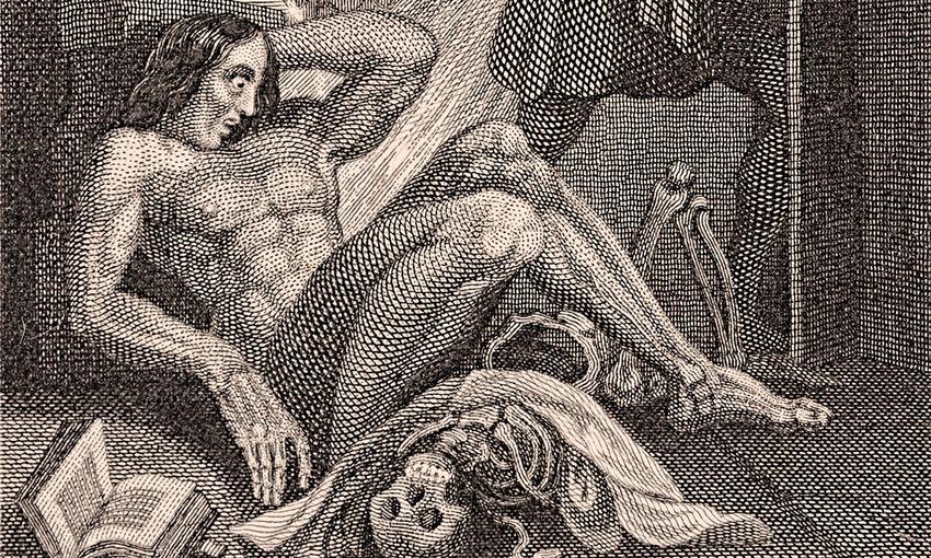 Couverture du livre de l'édition de 1831 de Frankenstein par Mary Shelley - Crédit : Wikimedia