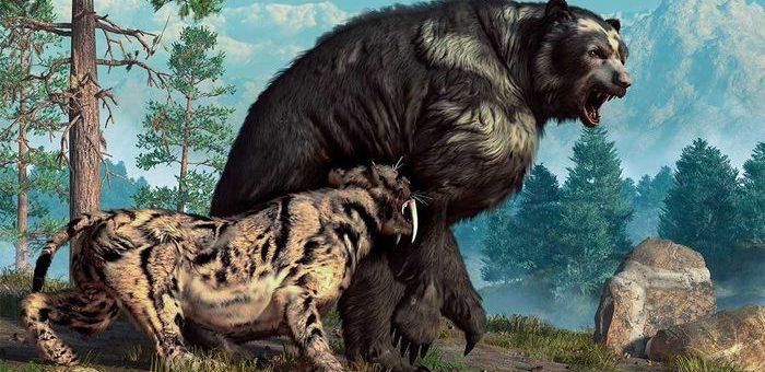 Une illustration de la mégafaune, qui est aujourd'hui disparue