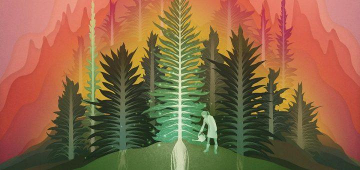Illustration des petites équipes en science. Une forêt d'arbres où chaque arbre est un projet et une personne qui supporte le type de travail de recherche en profondeur (racines) et très innovant (branches) produit par de petites équipes - Crédit : Lingfei Wu/University of Chicago Knowledge Lab