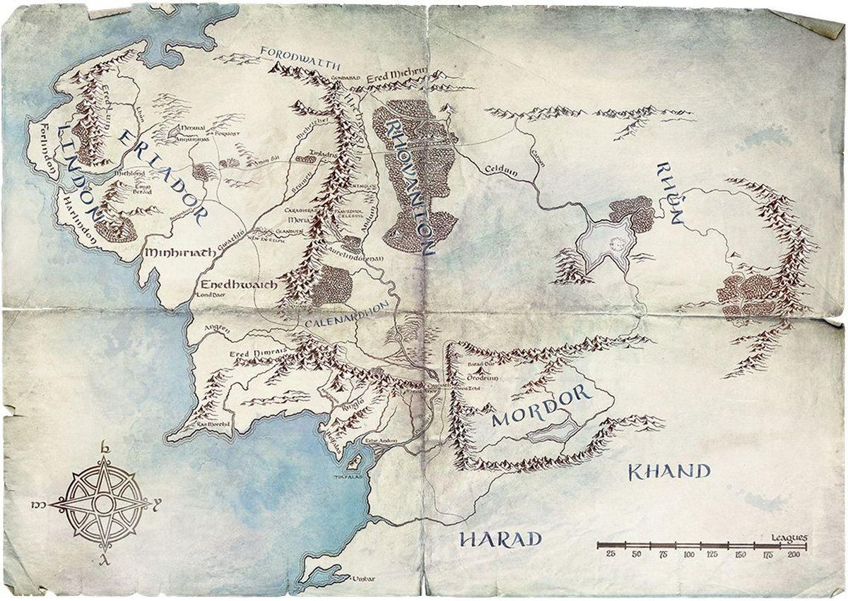 Avec quelques tweets montrant une carte de la Terre du milieu, Amazon lance son marketing sur sa série du Seigneur des anneaux. Le projet semble titanesque.
