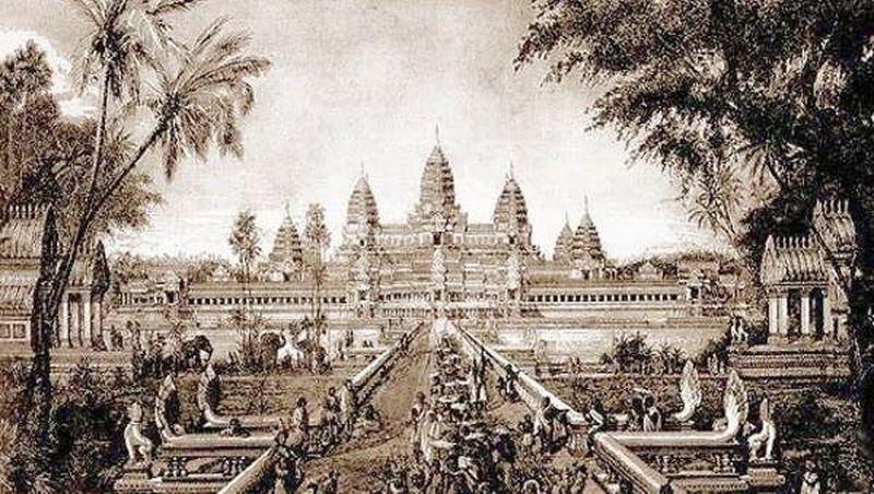 Image d'Angkor Wat en 1880 par Louis Delaporte - Crédit : Louis Delaporte/Wikimedia Commons