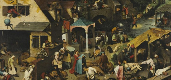 A messy life. Détail des Netherlandish Proverbs (1559) de Pieter Bruegel l'Ancien. Crédit : Gemäldegalerie, Berlin