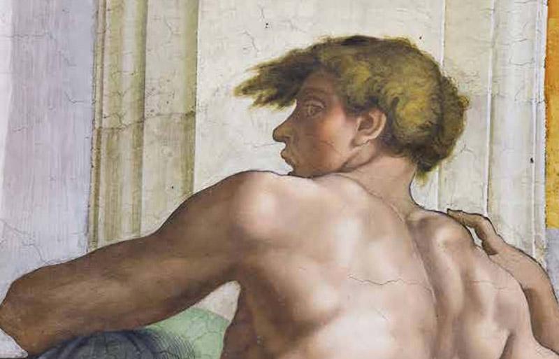 Fig 3. Chapelle Sixtine détail de la couverture du livre Eros Visible par James Grantham Turner