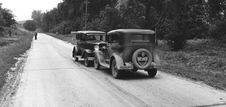 Accident de voiture frontale dans une région rurale du Dakota du Sud en 1932. Quatre-vingt pour cent des conducteurs se disent supérieurs à la moyenne - Crédit : Wikimédia