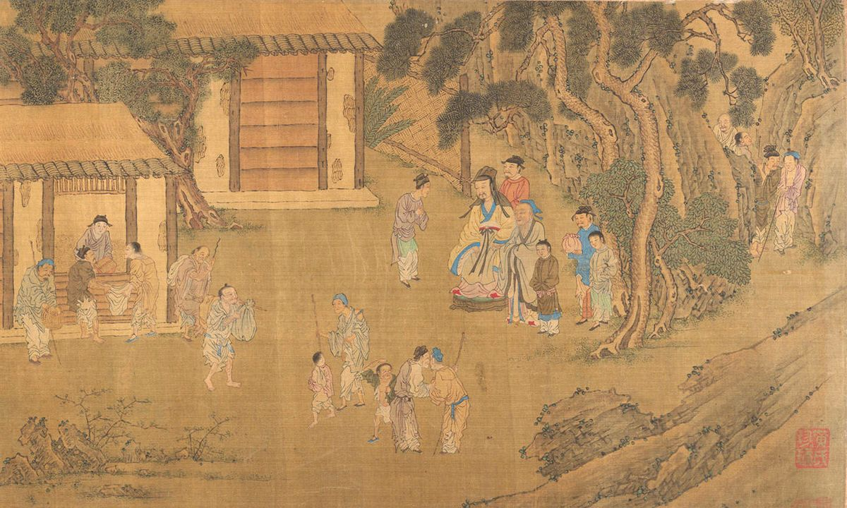 Family Training, artiste inconnu, dynastie Ming (1368-1644) ou Qing (1644-1911) - Crédit : Met Museum, New York