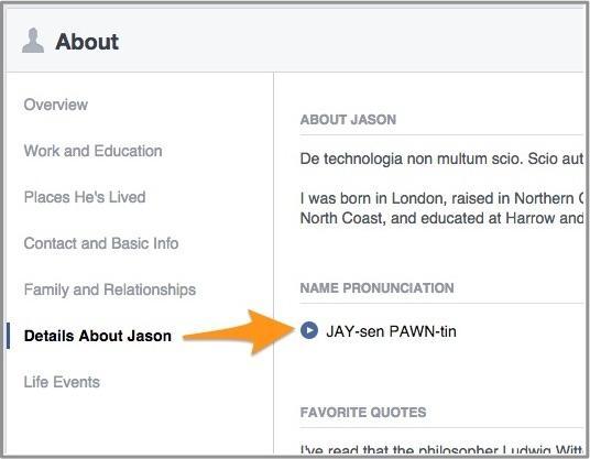 Facebook aide vos amis à prononcer correctement votre nom