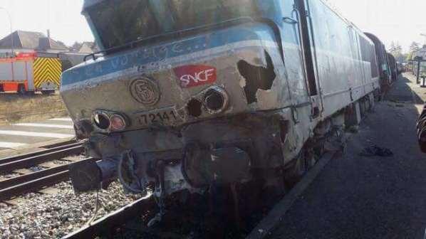 Nangis : Collision entre un train et un camion