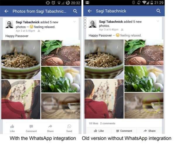 L'application Facebook intègre désormais WhatsApp