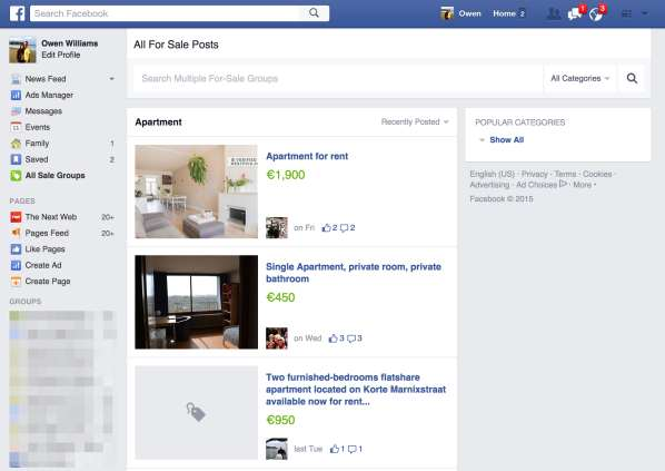Oubliez eBay, Facebook veut vous aider à vendre dans les groupes