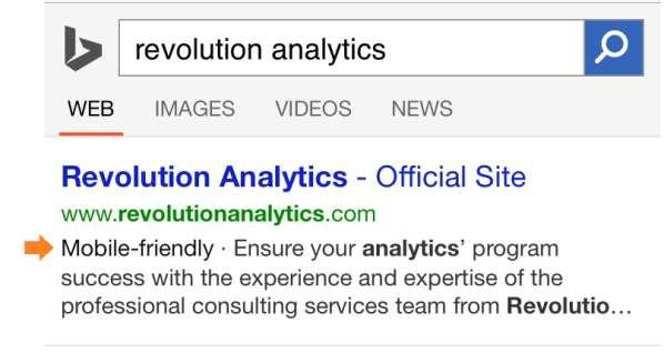 Bing va aussi déployer son algorithme Mobile Friendly