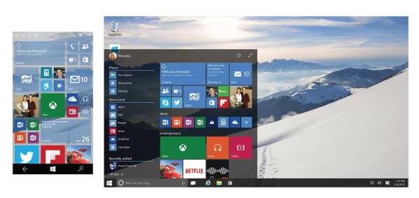 7 versions différentes de Windows 10