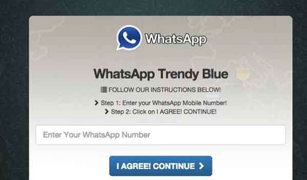 La version bleue de WhatsApp est un Scam