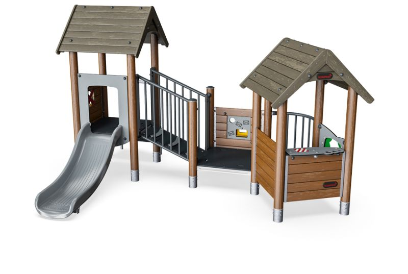 spielturm spielhaus mit balkon moments mini kinderkrippe und kindergarten spielturm. Black Bedroom Furniture Sets. Home Design Ideas
