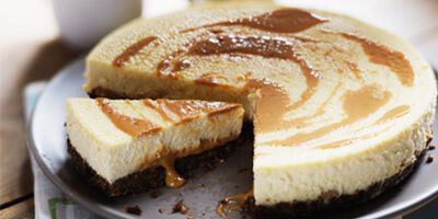 Baked Toffee Cheesecake
