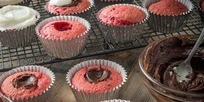 Valentine's Chocolate Truffle Cupcakes