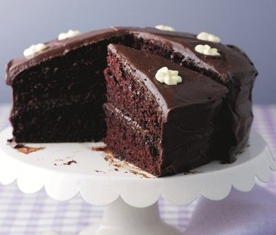 Dark Chocolate Fudge Cake And Icing