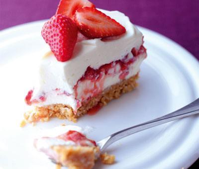 Cheesecake Recipe - Summer Strawberry, Mascarpone & Coconut Cheesecake ...