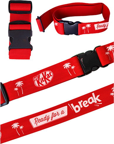 Belt up for your break luggage strap
