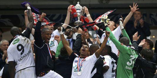 L'équipe guingampaise lors de la victoire en coupe de France 2014