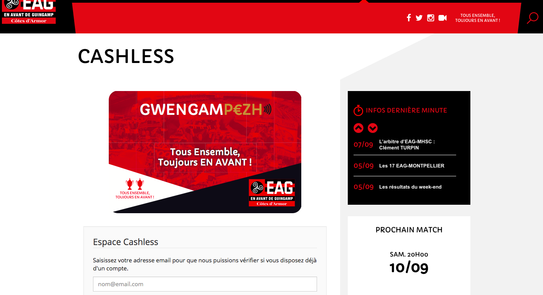 Recharger son compte sur le site internet de l'EAG