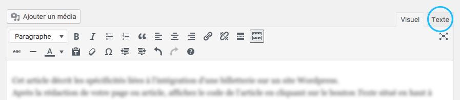 intégration module sur wordpress