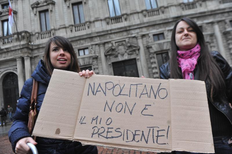 Catania, Napolitano accolto tra le proteste $