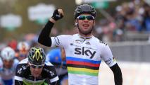 Mark Cavendish vince in volata la seconda tappa del Giro d'Italia (AFP)
