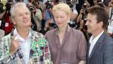 Bill Murray, Tilda Swinton ed Edward Norton a Cannes (Afp)