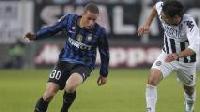 Luc Castaignos, prima rete con la maglia dell'Inter (AFP)