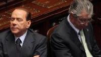 Silvio Berlusconi assieme a Umberto Bossi: adesso è crisi (Prisma)