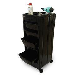 Carro de peluquería canina negro 5 cajones - GB201