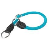 Collar redondo nylon y piel - Color azul