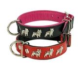 Collar piel Bulldog francés - LZ0315-LZ0324