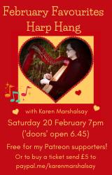February Favourites Harp Hang