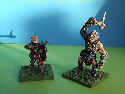 1 figure 15mm Fantasy Legian Mounted Captain #1