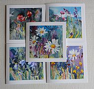 Set of 5 Flower Cards