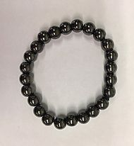 Hematite Round Bead Bracelet