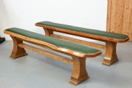 Natural edge benches